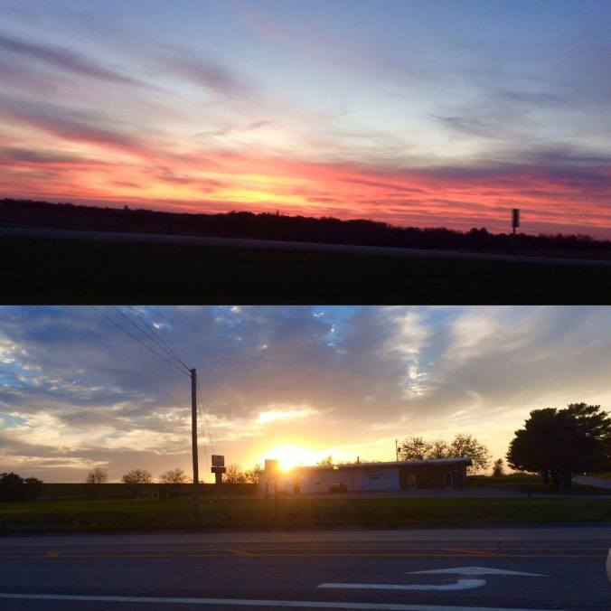 Sunrise and Sunset while Traveling